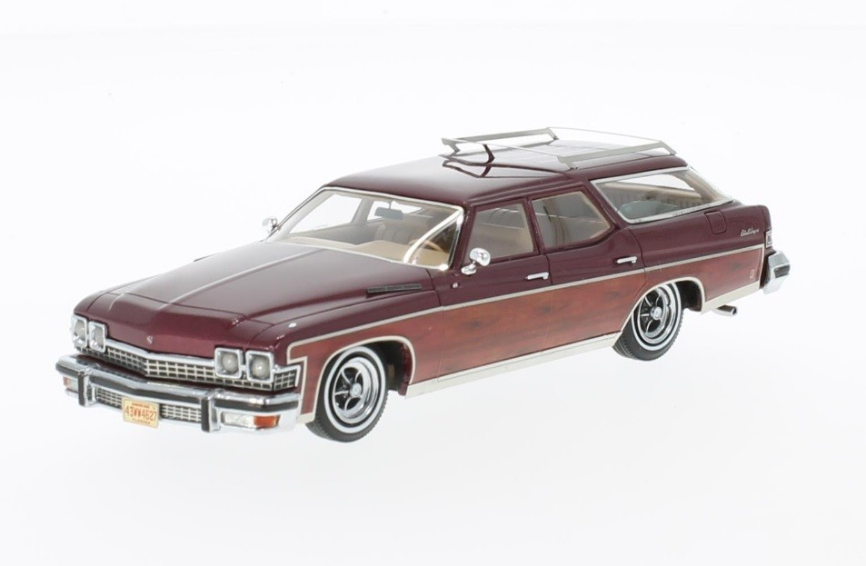 Buick Le Sabre Estate Wagon 1974 (metallic dark red/wood optics)
