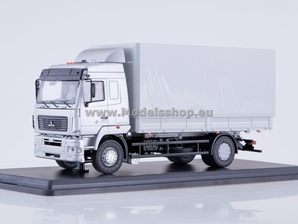 MAZ-5340 Flatbed Truck with Tent (facelift) (grey)