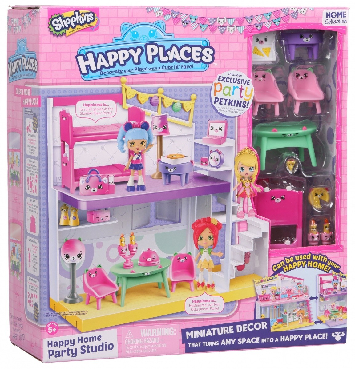 HAPPY PLACES SHOPKINS - Zestaw Happy Home Party Studio