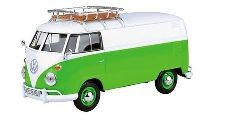 Volkswagen T1 Box Wagon with Roof Rack (light green/white)