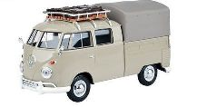Volkswagen T1 Pick Up with Roof Rack and Cover (dunkelbeige)