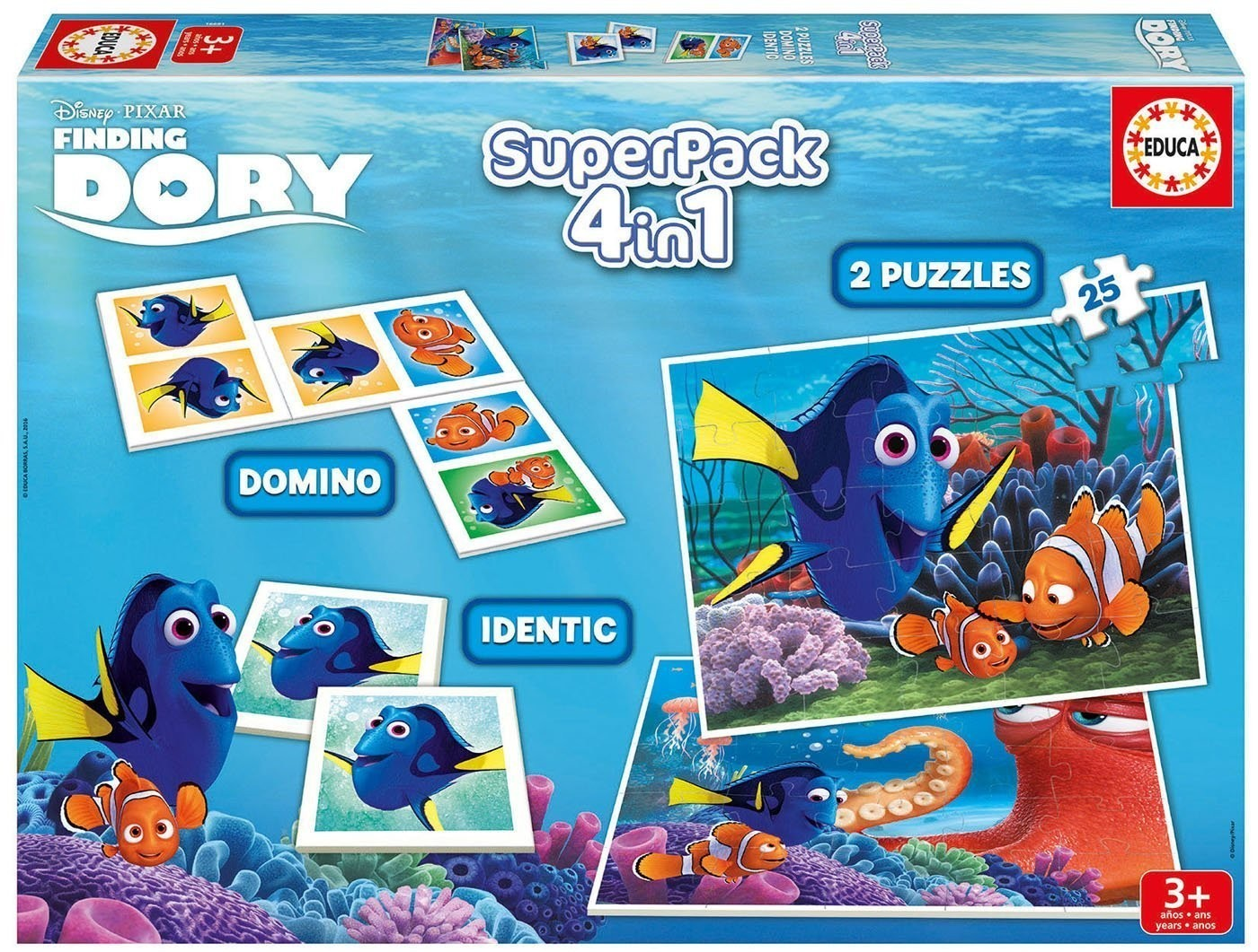 Superpack Finding Dory Zestaw Puzzle, Memo, Domino