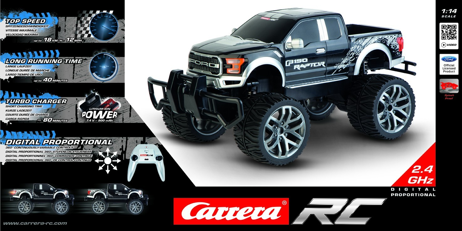 RC Off Road Ford F-150 Raptor black 1:14